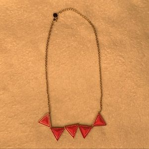 Pink Triangle Necklace!!!